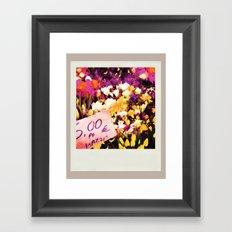 Flower Market Framed Art Print