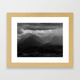Rainy mountains Framed Art Print