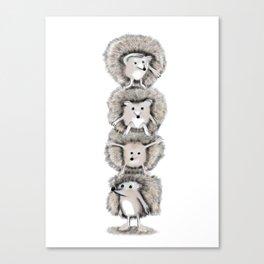 Hedgehog Totem Canvas Print