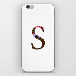 "Initial letter ""S"" iPhone Skin"