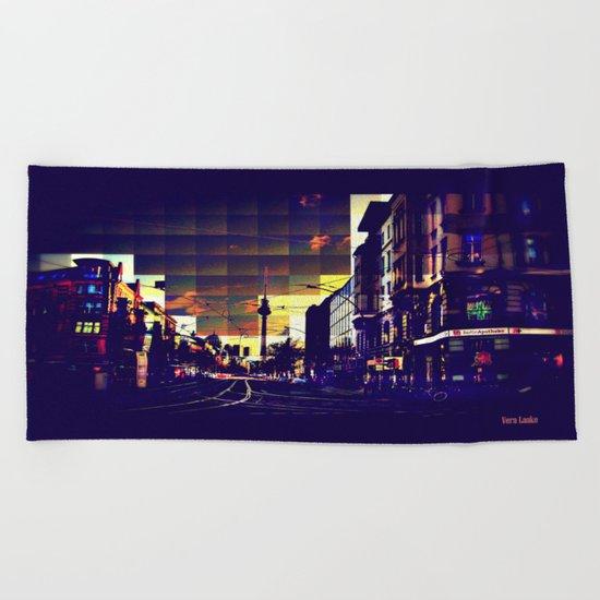 Berlin Art Beach Towel