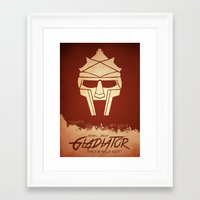 gladiator Framed Art Prints featuring Gladiator by Anton Lundin