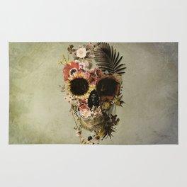 Garden Skull Light Rug