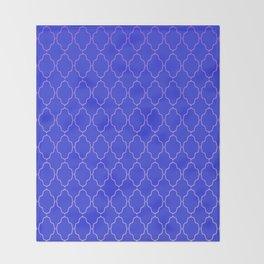 Diamond Grid Royal Blue Throw Blanket