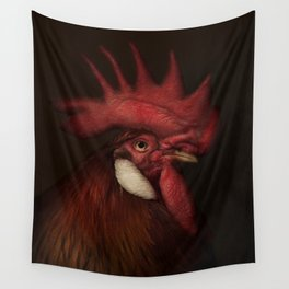 Leghorn Rooster Wall Tapestry
