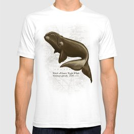 North Atlantic Right Whale, Digital Illustration by Amber Marine (Copyright 2015) T-shirt