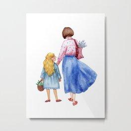 As mother as daughter Metal Print