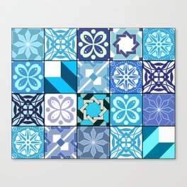Ceramic Tiles - Oriental Blue Canvas Print