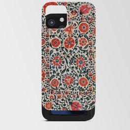 Shakhrisyabz Suzani  Uzbekistan Antique Floral Embroidery Print iPhone Card Case