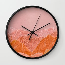 Lines in the mountains - pink II Wall Clock