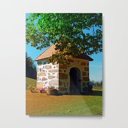 The Binder chapel (and some tree) Metal Print