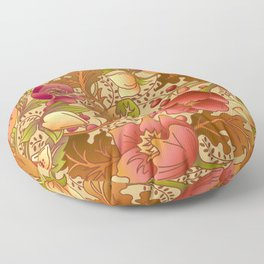 Fall Flowers Floor Pillow