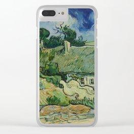 "Vincent van Gogh ""Thatched Cottages at Cordeville"" Clear iPhone Case"