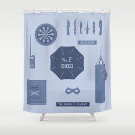 no. 2 diego Shower Curtain