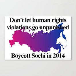 Boycott Sochi - Bisexual Flag Gradient Canvas Print