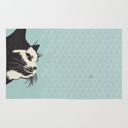 Cat on Blue - Lo Lah Studio Rug