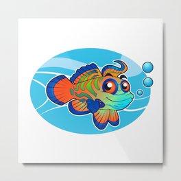mandarin fish cartoon Metal Print