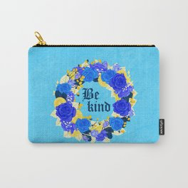 Flower wreath | Be kind Carry-All Pouch