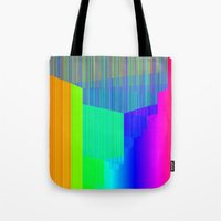 pivot Tote Bags featuring R Experiment 4 (quicksort v2) by X's gallery