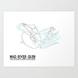 Mad River Glen, VT - Minimalist Trail Art Art Print
