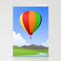 hot air balloons Stationery Cards featuring Hot Air Balloons by Henry Meadowlark