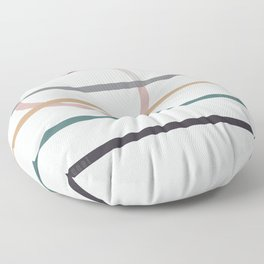for Love || stripes & circle Floor Pillow