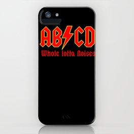 ABC, a heavy metal parody iPhone Case