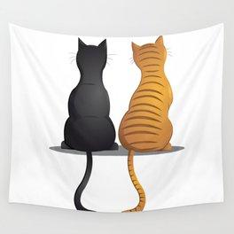 cat buddies Wall Tapestry