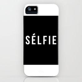 Selfie - version 2 - white iPhone Case