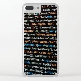 beep boop Clear iPhone Case