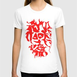 face1 red T-shirt
