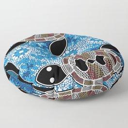 Aboriginal Art - Sea Turtles Floor Pillow