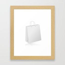 White shopping bag Framed Art Print