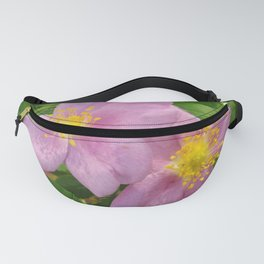 Two Pink Wild Roses Fanny Pack