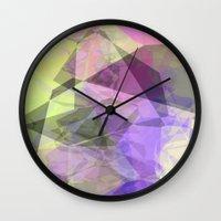 polygon Wall Clocks featuring Polygon by Fine2art