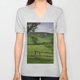 The Long Man Of Wilmington Unisex V-Neck