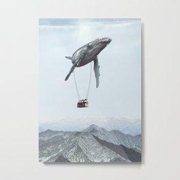 Transporter Whale Manupulation Metal Print