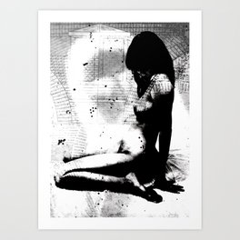 Nude Art Jesus Art Print