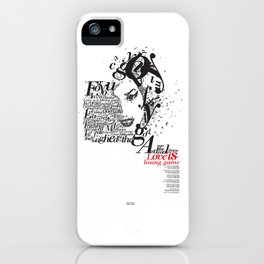 typographic amy Back To Black iPhone Case