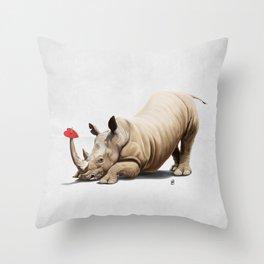 Horny (Wordless) Throw Pillow
