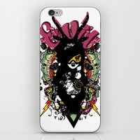 evil iPhone & iPod Skins featuring EVIL by DON'T NEED NO SAMURAI