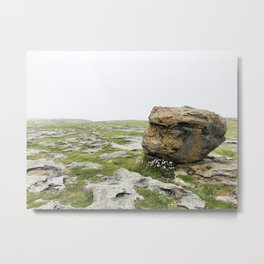 The Burren Fog Metal Print