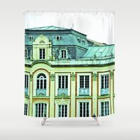 political Shower Curtains featuring Political building. by Alejandra Triana Muñoz (Alejandra Sweet