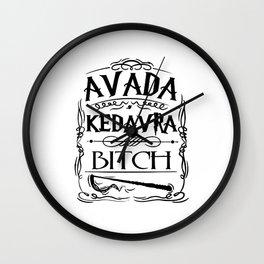 Avada Kedavra Harry Potters Wall Clock