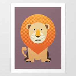 Whimsy Lion Art Print