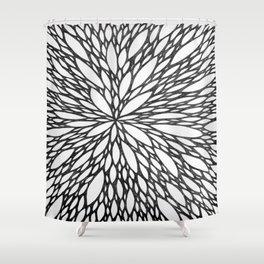 Chrysanthemum Burst Shower Curtain