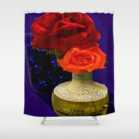tequila Shower Curtains featuring Tequila Rose by TexasArt