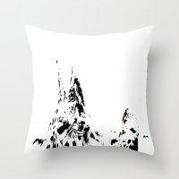 giraffes Throw Pillows featuring Giraffes  by Digital-Art