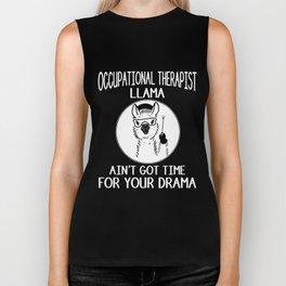 occupational therapist llama aint  nurse Biker Tank