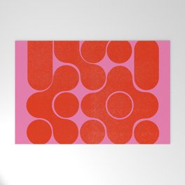 Abstract mid-century shapes no 6 Welcome Mat